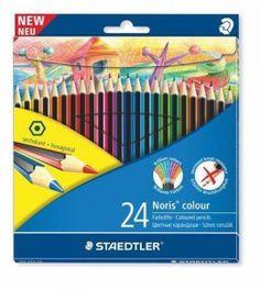 """Barevné pastelky """"Noris Colour"""", 24 barev, šestihranné, STAEDTLER"""