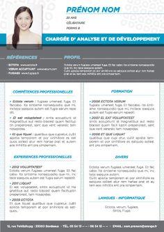 Modèle de CV Batur Vert Gris | CV | Pinterest
