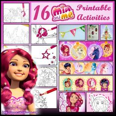 16 Free Mia and Me printables from Centopia