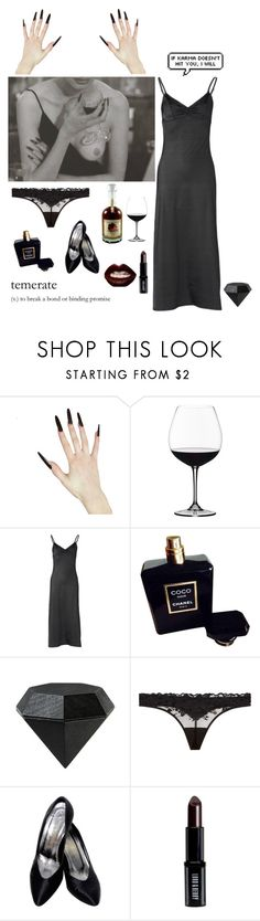 """""""Careful, Cats have claws"""" by missmoonchild ❤ liked on Polyvore featuring Riedel, Only Hearts, Chanel, Areaware, La Perla, TEM, Yves Saint Laurent, Lord & Berry and Manic Panic NYC"""