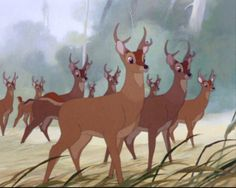 Screencap Gallery for Bambi Bluray, Disney Classics). The animated story of Bambi, a young deer hailed as the 'Prince of the Forest' at his birth. As Bambi grows, he makes friends with the other animals of Disney Pixar, Bambi Disney, Old Disney, Disney Films, Disney Fun, Disney And Dreamworks, Disney Animation, Pusheen, Bambi Art