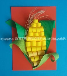Corn paper craft school decorations, projects for kids, diy crafts for kids, art Fall Crafts For Kids, Summer Crafts, Toddler Crafts, Preschool Crafts, Projects For Kids, Art For Kids, Kids Diy, Art Projects, Cute Crafts