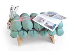 Zieharsofika upholstery made by folding foam mats by Meike Harde
