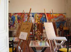 Laboratorio di pittura L'Altro ArteContemporanea a Palermo