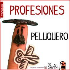 El peluquero / La peluquera --- Profesiones en español, vocabulario español incial- intermedio
