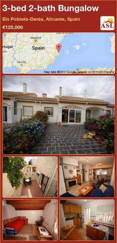 3-bed 2-bath Bungalow in Els Poblets-Denia, Alicante, Spain ►€125,000 #PropertyForSaleInSpain