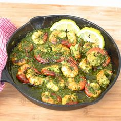 Easy and delicious chimichurri shrimp!