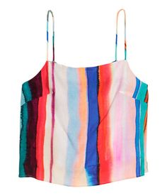Sleeveless Top | Multistriped | Ladies | H&M US