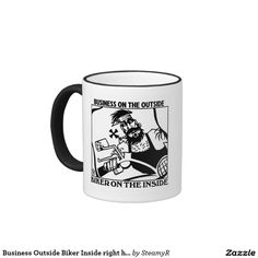 Business Outside Biker Inside right hand mug