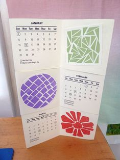 I'm crazy about the blog Bookmaking With Kids. Here's a great idea (with a template) for a calendar.