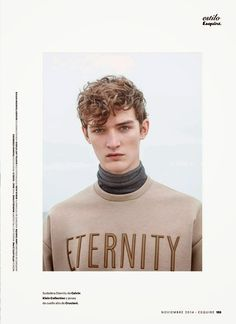 Otto Lotz captured by Nacho Pinedo and styled by Ildara Cuiñas, for the November 2014 issue of Esquire España.