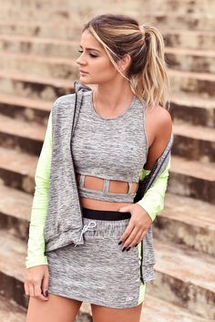 ThassiaNaves_AltoGiro Sport Fashion, Fitness Fashion, Fashion Outfits, Womens Fashion, Fitness Gear, Workout Attire, Workout Wear, Estilo Fitness, Cute Comfy Outfits
