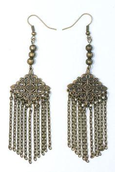 Brass handcrafted earrings