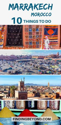 Going to #Marrakech, #Morocco? Here are the best things to do in the city.   #VisitMarrakesh   Top things to do in Marrakech   Highlights of Marrakech   Explore Marrakesh   Must see places in Morocco   Travel in Morocco   Marrakech Markets   Top attractions in Marrakech   Marrakech Souks   Marrakech tagine   Visit Jemaa el-Fna   Explore Ben Youssef Medersa   #marrakechtips #travel #moroccoguides #bestofmarrakech #bestthingstoseemarrackech #placestovisitmarrackech #moroccotips #visitmarrakech