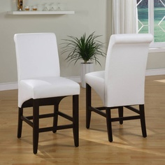 In an industry dominated by varying shades of brown, the Cosmo collection from Modus Furniture is a breath of fresh air. Dining chairs and counter stools are available in an array of textured synthetic leathers to add a splash of color to any dining room. Cosmo chairs are constructed with no-sag...