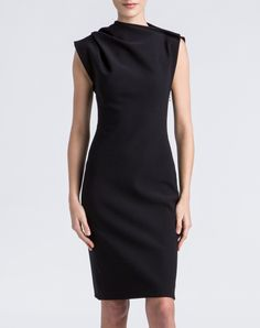 LANVIN -BLACK DRESS -THE SHAPE OF THE SEASON