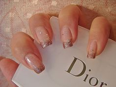I love the silver glitter instead of a traditional French manicure