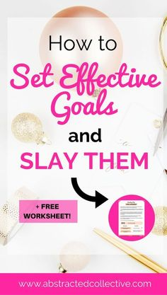 How to set effective goals and slay them [+FREE worksheet] Personal Goal Setting, Smart Goal Setting, Personal Goals, Setting Goals, Goal Settings, Goal Setting Template, Goal Setting Worksheet, Reaching Goals, Achieving Goals
