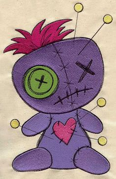 Stitch this design. It's a much better idea than actually jabbing pins into a doll of that troublesome ex.