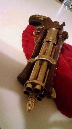 Steampunk Gatling pistol by IronDragonForge on Etsy