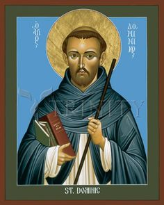 "St. Dominic Guzman | Catholic Christian Religious Art - Icon by Br. Robert Lentz, OFM - From your Trinity Stores crew, ""Here's to Dominican St. Dominic!"""