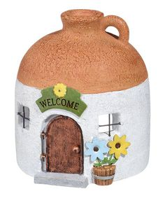 Look what I found on #zulily! Fairy Tale Jug Toad House Garden Décor #zulilyfinds