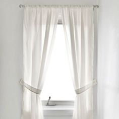 Soft as silk, the Fabric Window Curtain Panel Pair will bring a complete and stylish look to your bath and shower area. Each curtain is mildew resistant to stand up to the humidity put forth after showering. Bathroom Window Curtains, Bath Window, Window In Shower, Bathroom Windows, Blackout Curtains, Drapes Curtains, Curtain Fabric, White Lace Curtains, Windows