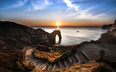 The photograph of the Dorset landmark Durdle Door at sunset that won Ollie Taylor the Velux Lovers of Light international photography competition Durdle Door Starburst is one of images entered in the competition since its launch last year Sunrise Pictures, Jurassic Coast, Photography Competitions, Landscape Photographers, Light Photography, World Heritage Sites, Landscape Photos, Photo Contest, Viajes