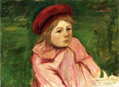 Mary Cassatt Little Girl in a Red Beret - The Largest Art reproductions Center In Our website. Low Wholesale Prices Great Pricing Quality Hand paintings for saleMary Cassatt Mary Cassatt, Edgar Degas, American Impressionism, Impressionist Art, Berthe Morisot, Red Berets, Mary I, Oil Painting Reproductions, American Artists