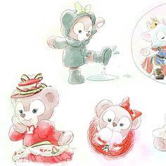 Duffy The Disney Bear, Disney Love, Disney Art, Disney Illustration, Bear Illustration, Bear Drawing, Nickelodeon Cartoons, Bear Cartoon, Cute Characters