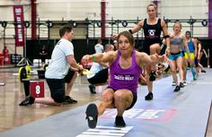 Mary Beth Litsheim, 51 years old, 10th place after day 1, South West Regional Women's Individual Competition (not masters). #crossfit