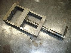 Vise - Homemade vise assembled from recycled parts and precision ground.