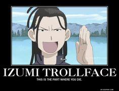Anime / Fullmetal Alchemist: Brotherhood / Izumi Curtis / FMAB / Trollface