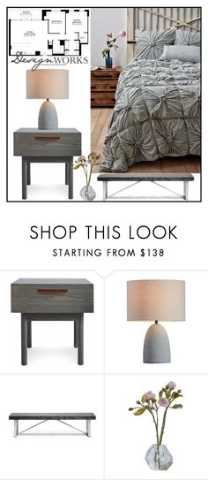 """Design Works"" by loveartrecyclekardstock ❤ liked on Polyvore featuring interior, interiors, interior design, home, home decor, interior decorating, Blu Dot, Zuo and bedroom"