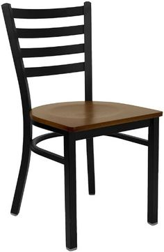 T & D Restaurant Equipment BFDH-6147LADCW Black Ladder Back Metal Restaurant Chair with Cherry Wood Seat, Black, Cherry T & D Restaurant Equipment http://www.amazon.com/dp/B0078ZXVHY/ref=cm_sw_r_pi_dp_Rm2Utb16D7924R6W