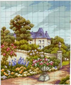 Summer day - HOUSE - ARRANGEMENTS cross stitch - File Catalog - HOBBY