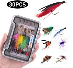 Streamers 5pcs Fly Fishing Lures Kit Wooly Bugger Flies Dry//Wet Flies