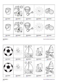 Un petit jeu de memory sur le thème des vacances Cycle 1, Centre, Playing Cards, Games, Memory Games, Preschool, Children, Playing Card Games