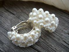 Náušnice Svatební perličkové klipsy