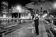 San Francisco Engagement Session Pictures in SF on the Embarcadero.  Photo taken by San Francisco Wedding Photographer enLuce Photography