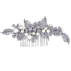 Vintage wedding haircomb with pearls