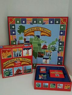 American Trivia: Junior Edition Board Game School Tools Ages 9 & Up | Toys & Hobbies, Games, Board & Traditional Games | eBay!