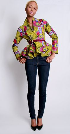 NEW The Patricia African Print 100 Holland Wax by DemestiksNewYork, $120.00 LOVE THIS JACKET