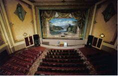 Inside the Rialto Theater, Deer Lodge - before the fire. :( It makes me sick that the old interior was ruined.