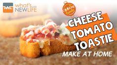 Cheese Tomato Toast http://www.whatsnewlife.com/easy-cheese-tomato-toast-recipe/