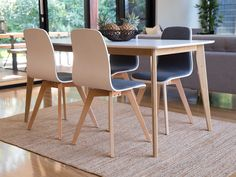 Mocka Cena Dining Table with Austin Chairs and Ruby Rug