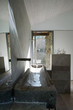 Stone water trough sink