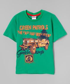 Look at this #zulilyfind! Green 'Green Patrols' Truck Tee - Infant, Toddler & Boys #zulilyfinds
