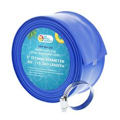 x Heavy Duty Blue PVC Swimming Pool Backwash Hose & Clamp Water Discharge Pool Filter Sand, Pool Filters, Floating Pool Skimmer, Pvc Pool, Pool Fun, Pool Lounge Float, Buy A Pool, Swimming Pool Maintenance, Pool Care