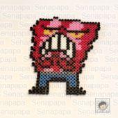 ちょっとしたとこでカリカリさせる カリカリベーコン 妖怪ウォッチ3アイロンビーズの図案 – セナパパの英語と知能の遊びBLOG
